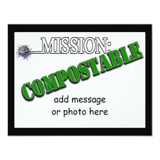 Misión: (2) ABONABLE Invitación 10,8 X 13,9 Cm