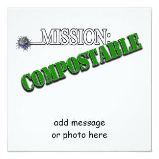 Misión: (2) ABONABLE Invitación 13,3 Cm X 13,3cm