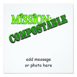 Misión: (5) ABONABLE Invitación 13,3 Cm X 13,3cm