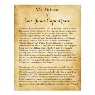 Misión de San Juan Capistrano Flyer