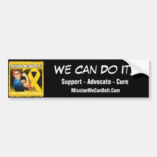 Misión del cáncer de Neuroblastoma podemos hacerla Pegatina Para Coche