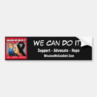 Misión del cáncer del melanoma podemos hacerla pegatina para coche