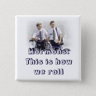 misionario, mormones chapa cuadrada