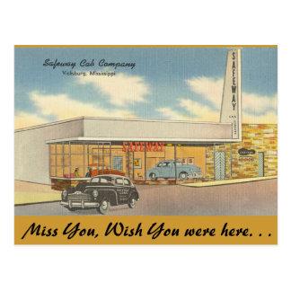 Mississippi, taxi Co., Vicksburg de Safeway Tarjetas Postales