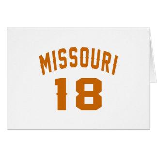 Missouri 18 diseños del cumpleaños tarjeta