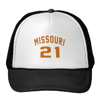 Missouri 21 diseños del cumpleaños gorras de camionero