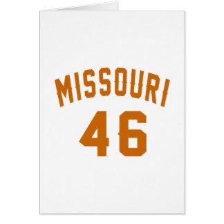 Missouri 46 diseños del cumpleaños tarjeta