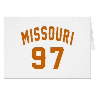 Missouri 97 diseños del cumpleaños tarjeta de felicitación