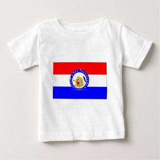 Missouri-Bandera Camiseta De Bebé