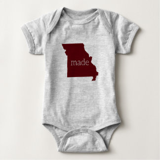 Missouri hizo el mono del bebé {marrón y el gris} body para bebé