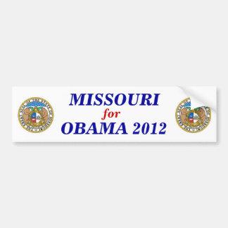 Missouri para el pegatina 2012 de Obama Pegatina Para Coche