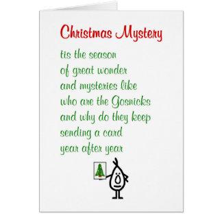 Misterio del navidad - un poema divertido de las tarjeta de felicitación