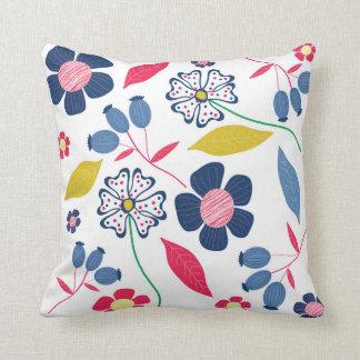 Misterio floral de la almohada de estaciones
