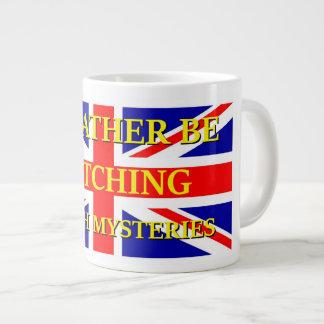 Misterios británicos de observación taza de café grande