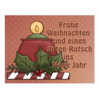 Mit Kerze de Weihnachtsmotiv Postal