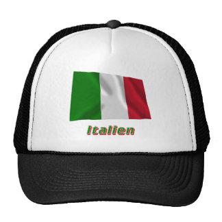 Mit Namen de Italien Fliegende Flagge Gorra