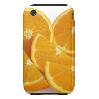 Mitades y cuartos de maduro, jugoso, dulce funda resistente para iPhone 3