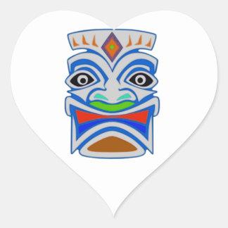 Mitología polinesia pegatina en forma de corazón
