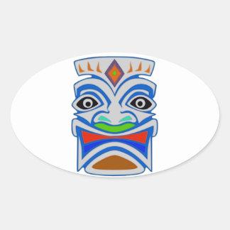 Mitología polinesia pegatina ovalada