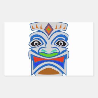 Mitología polinesia pegatina rectangular