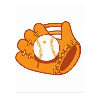 Mitón de béisbol postal