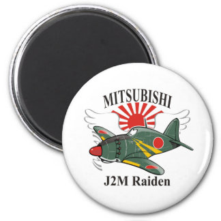 mitsubishi J2M Raiden Imán Redondo 5 Cm