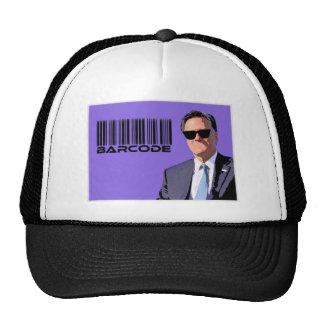 Mitt Romney con código de barras Gorras De Camionero