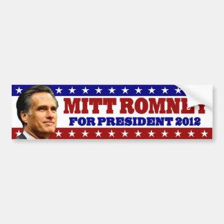 Mitt Romney para el presidente 2012 Pegatina Para Coche