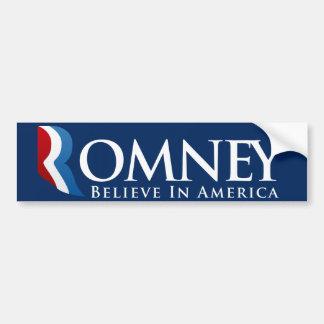 Mitt Romney para presidente Bumpersticker Pegatina Para Coche