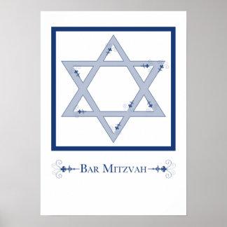mitzvah de la barra (estrella de la elegancia de póster