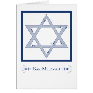 mitzvah de la barra (estrella de la elegancia de tarjeta de felicitación