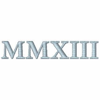 MMXIII 2013 números romanos bordó la camisa Camiseta Polo
