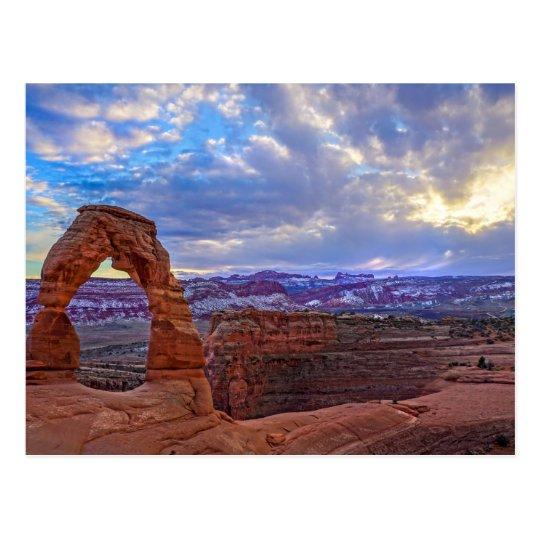 Moab Utah - arco delicado - postal