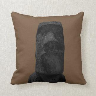 Moai - almohadas de tiro retras del color de
