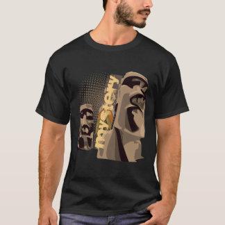 Moai - negro camiseta