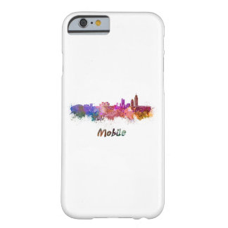 Mobile skyline in watercolor funda barely there iPhone 6