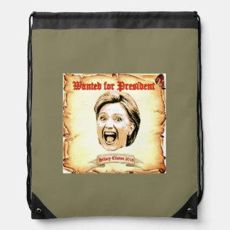 Mochila 2016 de Hillary Clinton.