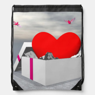 Mochila Amor como regalo - 3D rinden