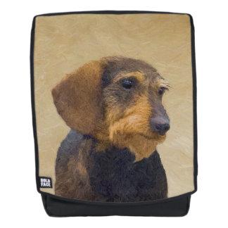 Mochila Arte original de pintura (Wirehaired) del perro