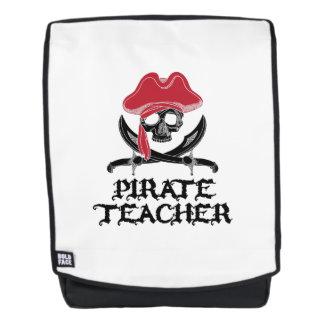 Mochila Bandera pirata Profesor-Alegre del cráneo de