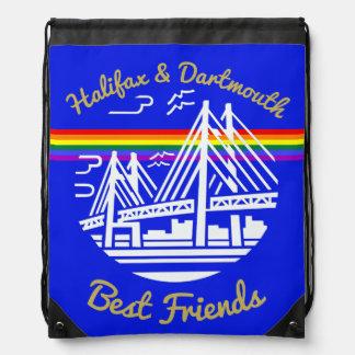 Mochila Bolso de lazo de los amigos de Halifax Dartmouth