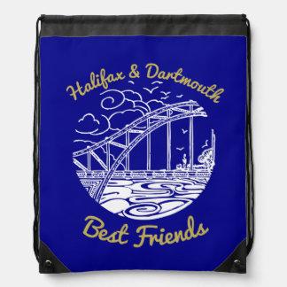 Mochila Bolso de lazo de los mejores amigos de Halifax