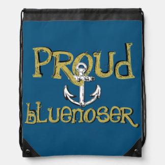 Mochila Bolso de lazo orgulloso del ancla de Bluenoser