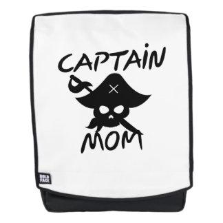 Mochila Capitán Mom Pirate Funny del traje de Halloween