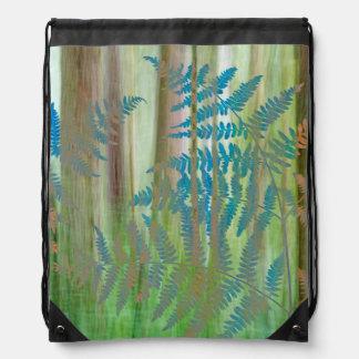 Mochila Collage de los helechos y del bosque el   Seabeck,