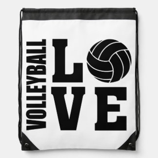 Mochila Con Cordones Amor del voleibol, voleibol