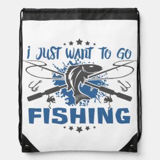 Mochila Con Cordones Apenas quiero ir a pescar