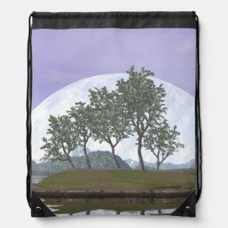 Mochila Con Cordones Árbol con hojas liso de los bonsais del olmo - 3D