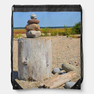 Mochila Con Cordones Arte de la playa