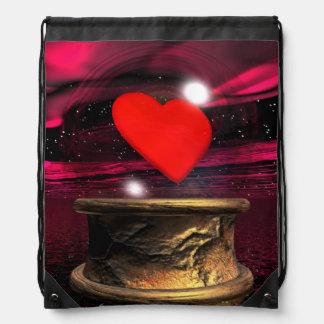 Mochila Con Cordones Bola de cristal para el amor - 3D rinden